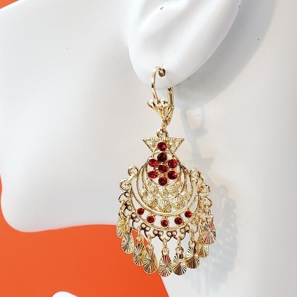 Jewelry - Earring Gold Plate Chandelier 14k